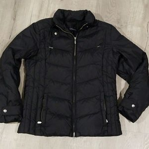 Lands' End black puffer coat Small 6-8
